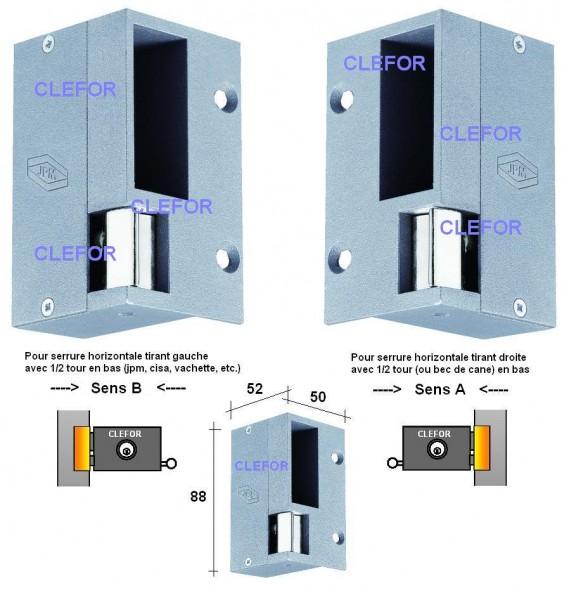 gache electrique jpm pour applique horizontale. Black Bedroom Furniture Sets. Home Design Ideas