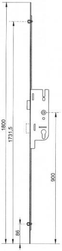 Serrures larder mulipoints for Barillet porte fenetre pvc