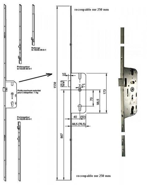 serrure ferco gu decena ajustable. Black Bedroom Furniture Sets. Home Design Ideas
