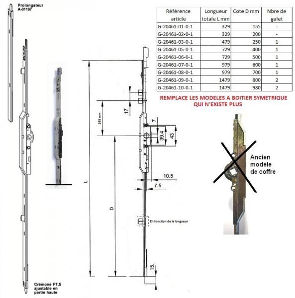 cremone serrure fenetre g20461 g 20461. Black Bedroom Furniture Sets. Home Design Ideas