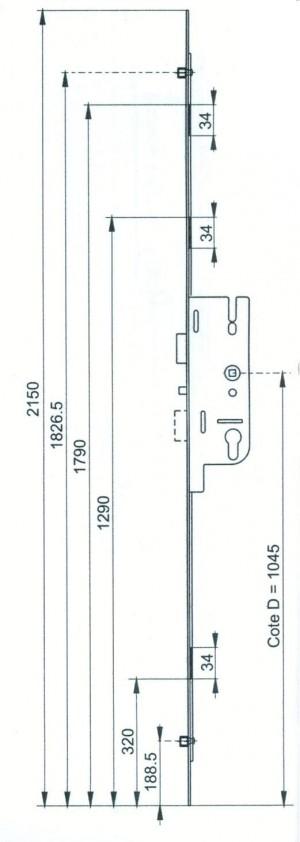 cremone larder multipoints gu fercomatic t ti re de 16mm quincaillerie clefor serrures cl s. Black Bedroom Furniture Sets. Home Design Ideas