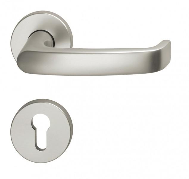 ensemble de porte fsb 1045 aluminium sur rosaces quincaillerie clefor serrures cl s. Black Bedroom Furniture Sets. Home Design Ideas