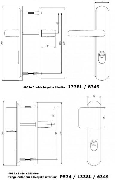 poign e de porte renforc e blind e secumax one. Black Bedroom Furniture Sets. Home Design Ideas