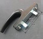 Poign e roto 1 fourche quincaillerie clefor serrures for Poignet porte fenetre