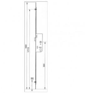 cremone larder gu ferco avec profil europ en quincaillerie clefor serrures cl s. Black Bedroom Furniture Sets. Home Design Ideas