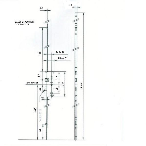 serrure larder 4 points vachette t ti re de 16 quincaillerie clefor serrures cl s. Black Bedroom Furniture Sets. Home Design Ideas