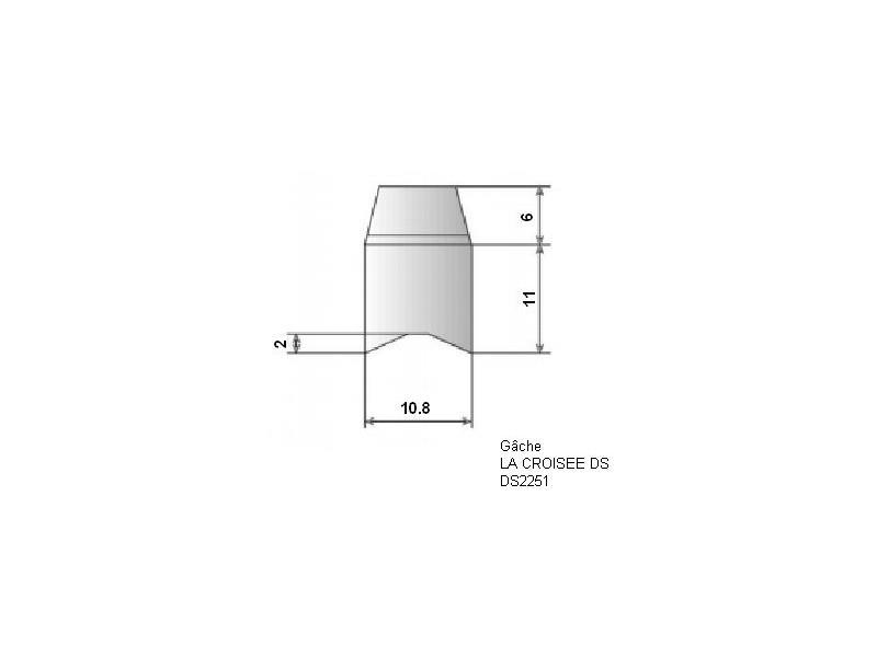 g che de fermeture la crois e ds 2251 quincaillerie clefor serrures cl s. Black Bedroom Furniture Sets. Home Design Ideas