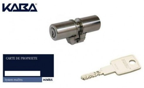 Cylindre KABA MATRIX adaptable FICHET MONOBLOC