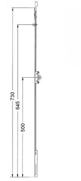 Cr mone de fen tre pvc double vantaux quincaillerie for Fenetre a cremone