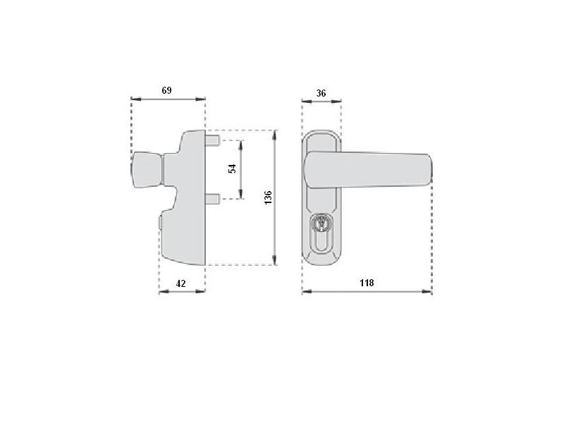 Module ext rieur b quille et cylindre iseo for Module exterieur
