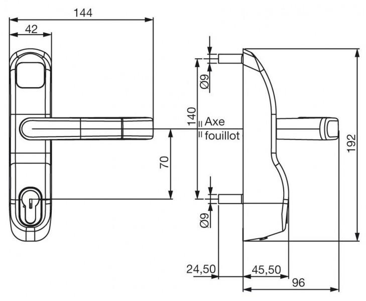 Module ext rieur b quille et cl quincaillerie clefor for Module exterieur
