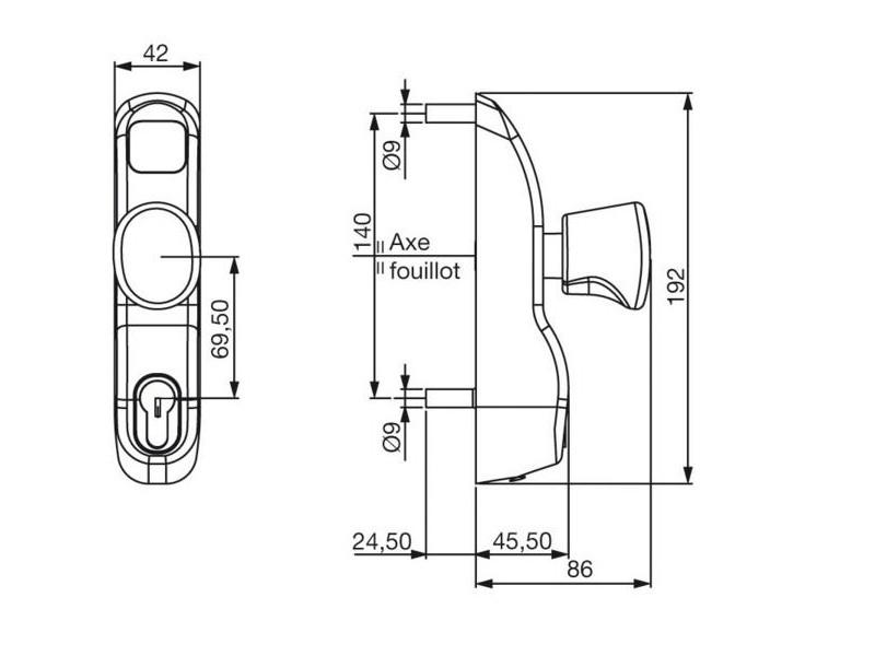 Module ext rieur bouton et cylindre pe 13 23 ap premium for Module exterieur