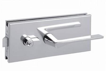 serrure milieu pour porte en verre quincaillerie clefor serrures cl s. Black Bedroom Furniture Sets. Home Design Ideas