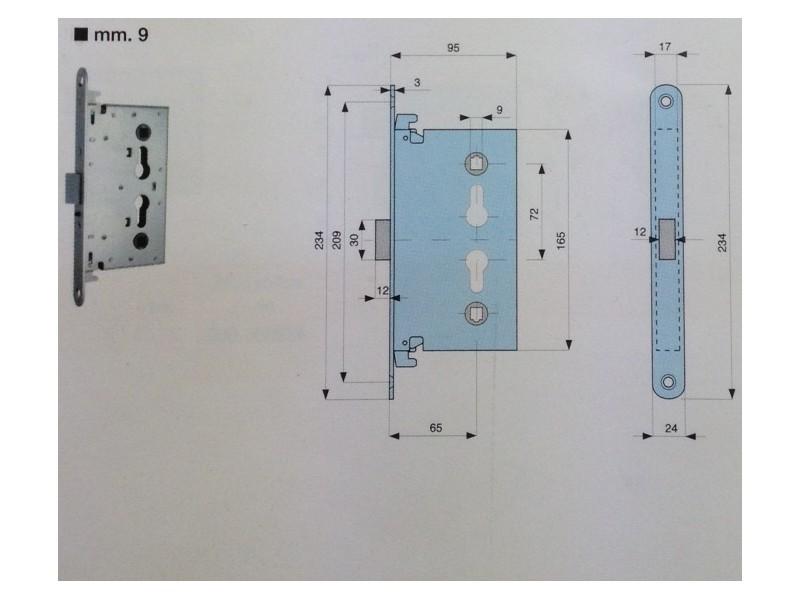 serrure mg larder multipoints pour porte coupe feu. Black Bedroom Furniture Sets. Home Design Ideas