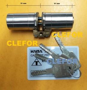 cylindre kaba  pour serrure porte fichet forge p
