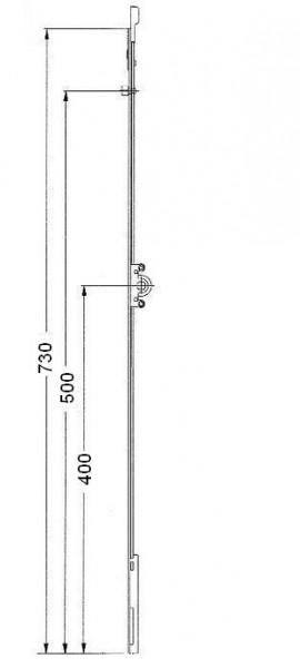 Cr mone de fen tre pvc double vantaux quincaillerie clefor serrures cl s - Cremone roto porte fenetre ...